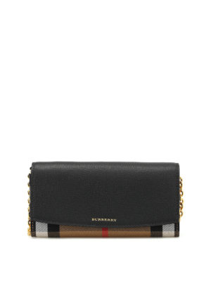 Burberry: wallets & purses - House Check cross body wallet