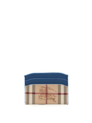 Burberry: wallets & purses - Izzy Haymarket check card holder