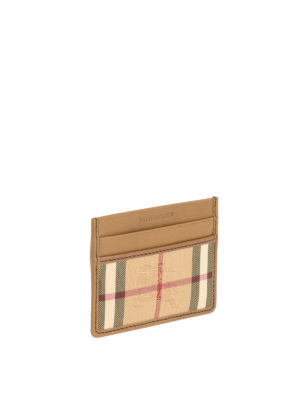 Burberry: wallets & purses online - Canvas and leather card holder