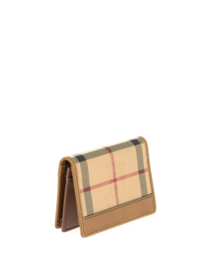 Burberry: wallets & purses online - Canvas Check and leather wallet