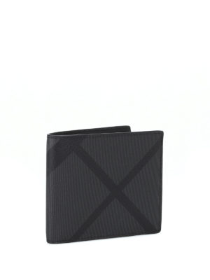 Burberry: wallets & purses online - Check patterned bifold wallet