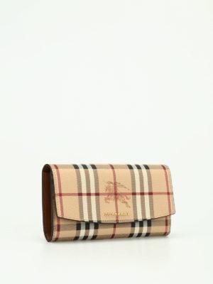 Burberry: wallets & purses online - Halton continental wallet