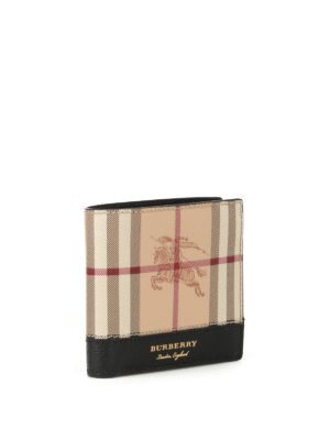 Burberry: wallets & purses online - Haymarket check bifold wallet