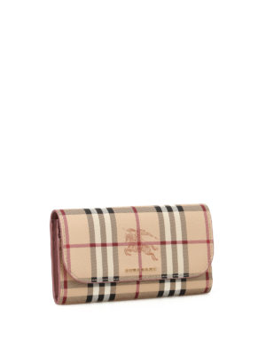 Burberry: wallets & purses online - Haymarket Check continental wallet