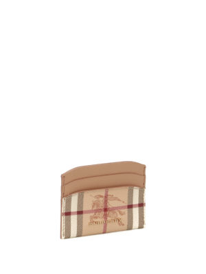 Burberry: wallets & purses online - Haymarket Check pattern card holder