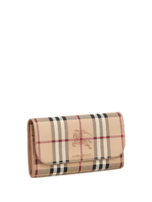 Burberry: wallets & purses online - Haymarket Check printed wallet