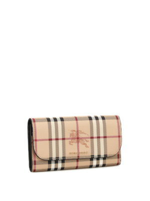 Burberry: wallets & purses online - Haymarket Check snap flap wallet