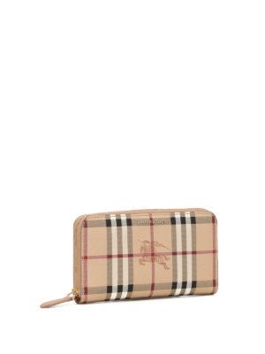 Burberry: wallets & purses online - Haymarket Check zip-around wallet