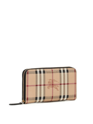 Burberry: wallets & purses online - Haymarket Check zip around wallet