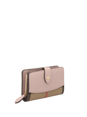 Burberry: wallets & purses online - House Check and leather wallet