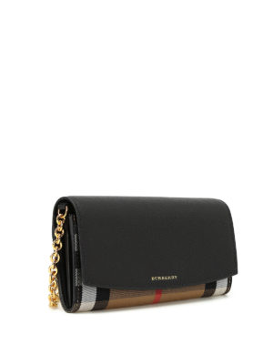 Burberry: wallets & purses online - House Check cross body wallet