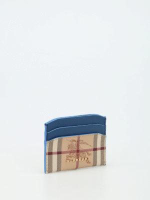 Burberry: wallets & purses online - Izzy Haymarket check card holder