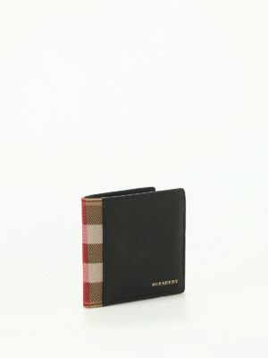 Burberry: wallets & purses online - Leather and canvas billfold wallet