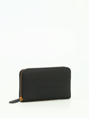 Burberry: wallets & purses online - Zip Around hammered leather wallet