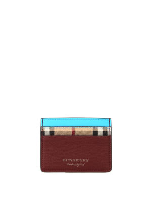 Burberry: wallets & purses - Sandon fluo trimmed card case