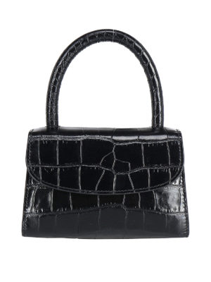 BY FAR: totes bags - Croco printed leather handbag