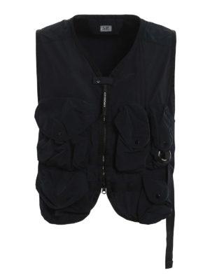 C.P. COMPANY: waistcoats & gilets - Multi pocket dyed vest