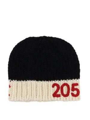 CALVIN KLEIN: berretti - Berretto in lana nero e avorio 205W39NYC