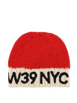CALVIN KLEIN: berretti - Berretto in lana rosso e avorio 205W39NYC