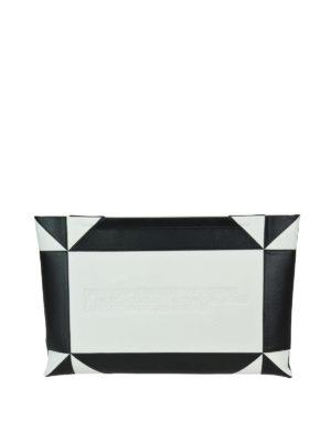 CALVIN KLEIN: pochette - Pochette bianca e nera effetto color block