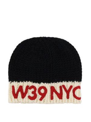 CALVIN KLEIN: berretti online - Berretto in lana nero e avorio 205W39NYC