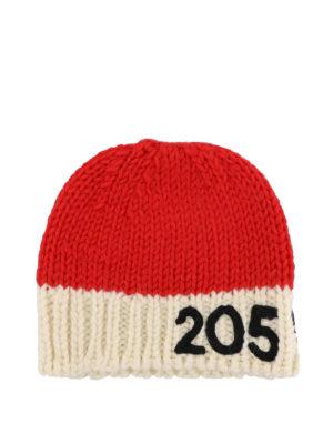 CALVIN KLEIN: berretti online - Berretto in lana rosso e avorio 205W39NYC