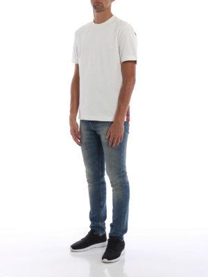 CALVIN KLEIN: t-shirt online - T-shirt in cotone pannello dietro stampato