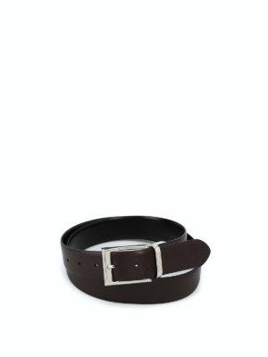 CANALI: cinture - Cintura reversibile marrone e nera