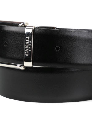 Canali: belts online - Reversible leather belt