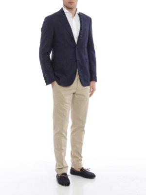 Canali: blazers online - Wool blend unstructured blazer