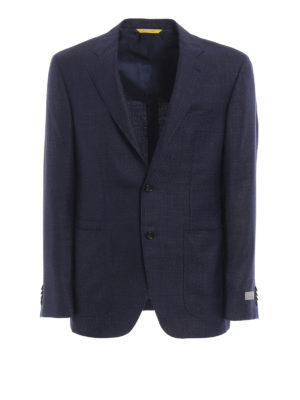 Canali: blazers - Wool blend unstructured blazer