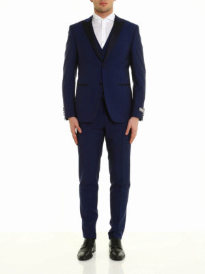 Canali: formal suits online - Three-piece wool formal suit