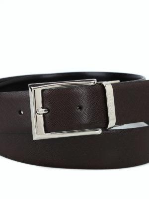 CANALI: cinture online - Cintura reversibile marrone e nera