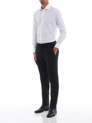CANALI: Pantaloni sartoriali online - Pantaloni classici neri in fresco lana
