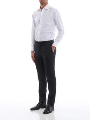 CANALI: Pantaloni sartoriali online - Pantaloni in flanella grigio antracite