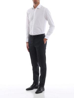 CANALI: Pantaloni sartoriali online - Pantaloni classici in fresco lana blu scuro