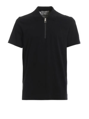 CANALI: polo shirts - Jersey polo with heat sealed zipper