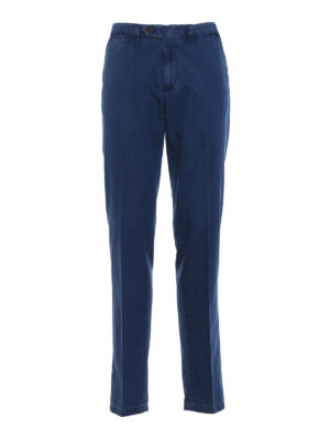 Canali: straight leg jeans - Chino-inspired cotton denim jeans