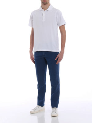 Canali: straight leg jeans online - Chino-inspired cotton denim jeans