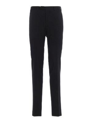 CANALI: Pantaloni sartoriali - Pantaloni classici neri in fresco lana