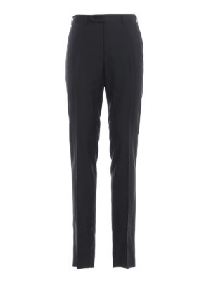 CANALI: Tailored & Formal trousers - Black wool classic trousers
