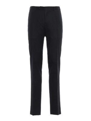 CANALI: Pantaloni sartoriali - Pantaloni in flanella grigio antracite