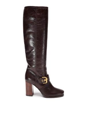 Car Shoe: boots - Vintage effect leather boots