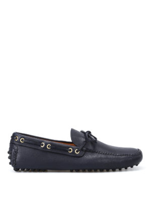 Car Shoe: Loafers & Slippers - Blue leather driver shoes