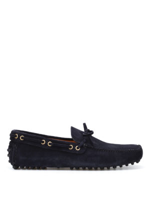Car Shoe: Loafers & Slippers - Blue suede driver shoes