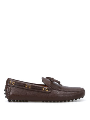 Car Shoe: Loafers & Slippers - Brown leather driver loafers