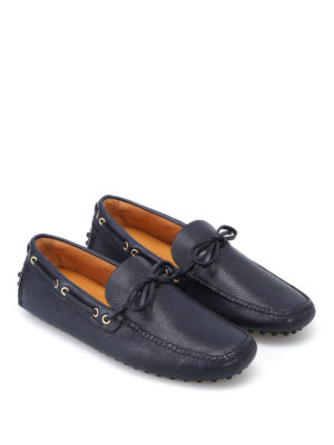 Car Shoe: Loafers & Slippers online - Blue leather driver shoes