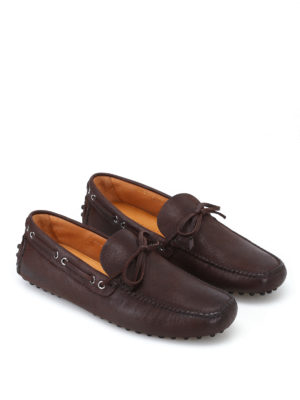 Car Shoe: Loafers & Slippers online - Brown goatskin driver shoes