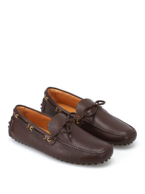Car Shoe: Loafers & Slippers online - Brown leather driver loafers