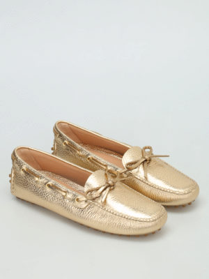 Car Shoe: Loafers & Slippers online - Hammered leather loafers